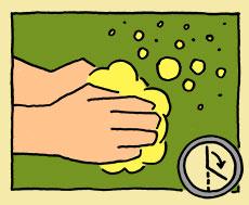 Hände waschen Schritt 2